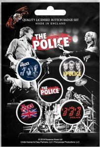 The Police (Band) 5 Pin Badges in Pack (rz)